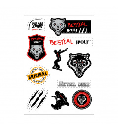 Etiquetas engomadas Bestial Wolf A4