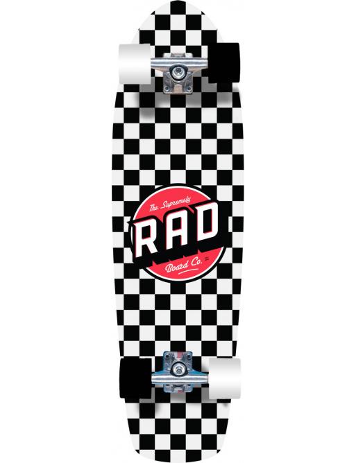 """RAD Retro Roller Cruiser Board (28""""   Checkers Black)"""