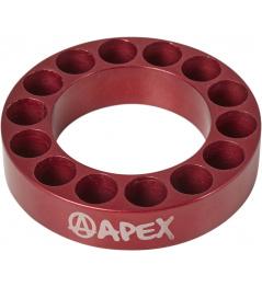 Espaciador de dirección Apex 10mm rojo