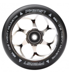 Fasen 120 mm rueda de plata negra