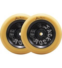 Ruedas North Signature 110x24mm Jackson Brower Naranja Pastel y Negro Mate