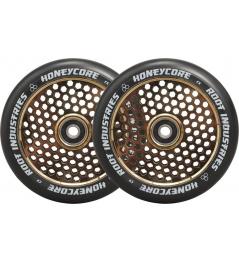 Ruedas Root Industries Honeycore negras 110mm 2pcs Gold Rush