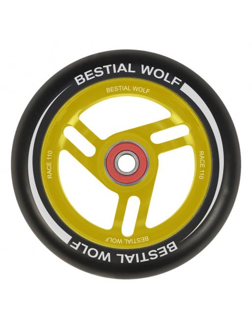 Rueda Bestial Wolf Race 110 mm negro-amarillo