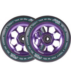Ruedas Pentágono Norte 120mm violeta 2pcs