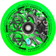 Rueda Chubby Lab Scooter (110 mm | Verde tóxico)