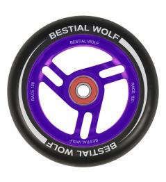 Rueda Bestial Wolf Race 100 mm negro violeta