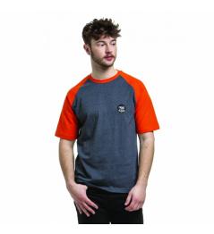 Nugget Asset C camiseta heather steel / red orange 2019 vell.M