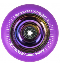 Rueda Metal Core Radical 100 mm FLUORESCENTE morado