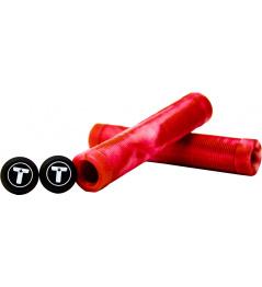 Puños Trynyty Swirl Rojo / Transparente