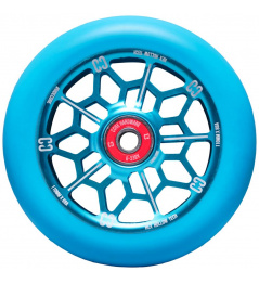 Rueda de scooter CORE hexagonal hueca (110 mm | azul)