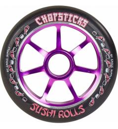 Palillos Sushi Rolls 110 mm negro violeta rueda