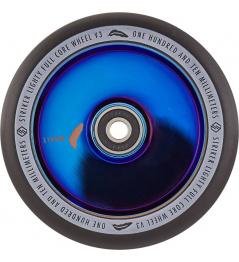 Rueda Delantera Lighty Full Core V3 Negro Azul Cromado