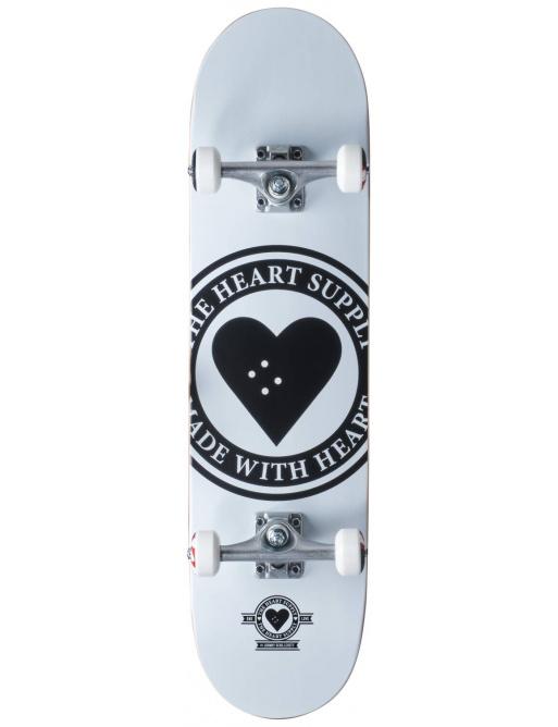 "Monopatín Heart Supply Logo 8 ""Badge White"