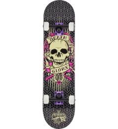 """KFD Young Gunz Skateboard 7.75 """"tatuaje calavera"""