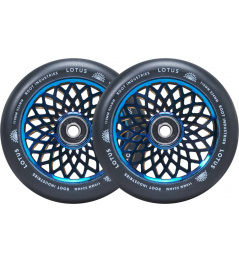 Ruedas Root Lotus 110x24mm Blu-ray / Negro 2pcs