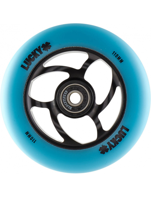 Rueda Lucky Torsion 110mm Teal / Negro