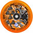 Rueda de scooter de laboratorio Chubby (110 mm | Naranja radiactivo)