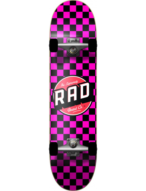 "RAD Checkers Skateboard Komplet (7""   Checkers Pink)"