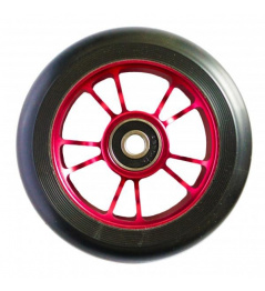 Blunt 10 Spokes rueda roja negra de 100 mm