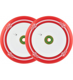 Ruedas UrbanArtt Original 120mm Rojo / Blanco 2pcs