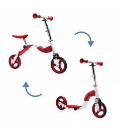 Scooter Scoobik y reflector en uno rojo