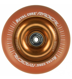 Núcleo metálico Radical fluorescente 110 mm naranja rueda