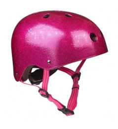 Přilba Micro Pink Glitter S (48-52 cm)