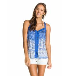 Camiseta de tirantes Roxy Sweet Escape 000 bjc6 combo indiglobe ultra marine 2014 mujer vell.L