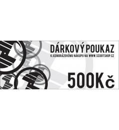 Vale de regalo por valor de 500 CZK