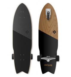 "Longboard Street Surfing SHARK ATTACK 35 ""Koa Black"