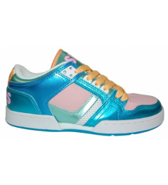 Zapatos Osiris NYC 83 LOW 10 W.blue/pink/white vell.UK6