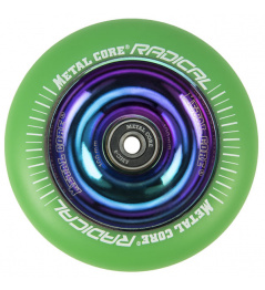 Núcleo de metal Radical Rainbow 110 mm green wheel