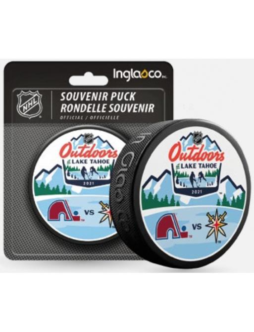 Fanouškovský puk NHL Lake Tahoe Dueling Blister (1ks)