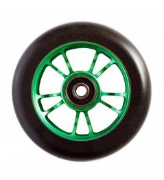Blunt 10 Spokes rueda verde negra de 100 mm
