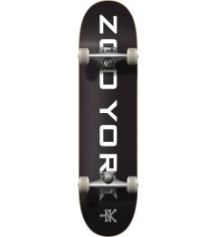 "Zoo York Logo Block Complete Skateboard (8 ""| Negro / Blanco)"