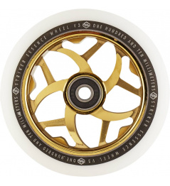 Wheel Striker Essence V3 Blanco 110mm dorado