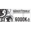 Vale de regalo por valor de 6000 CZK