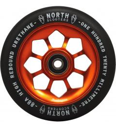 Rueda North Pentagon 120mm Negro / Cobre