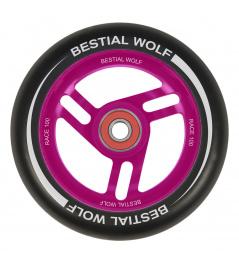 Rueda Bestial Wolf Race 100 mm negro rosa