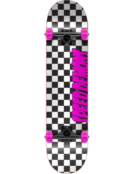 "Patineta Speed Demons Checkers 7.75 ""Rosa"