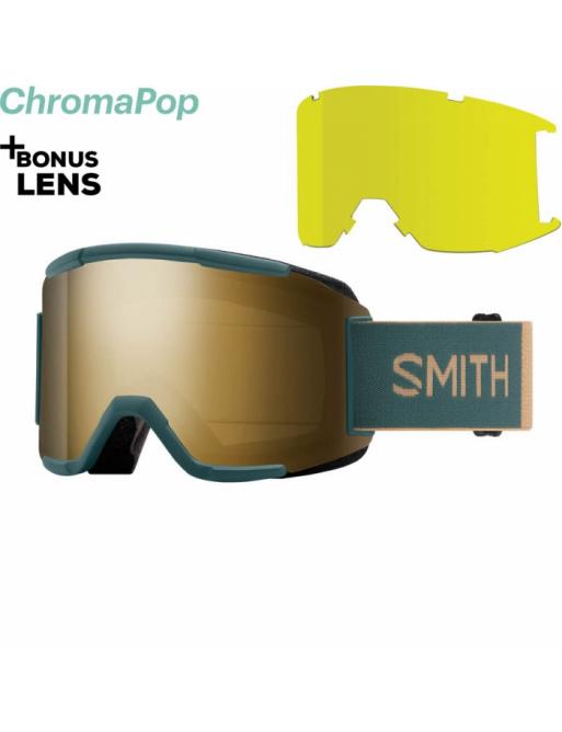 Gafas de protección SMITH Squad spruce safari / chromaPop sun black 2020/21
