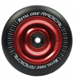 Metal Core Radical 100mm rueda negro-rojo