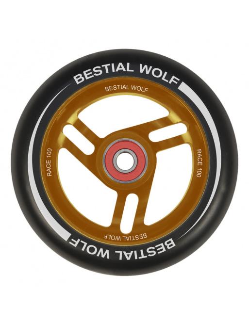Bestial Wolf Race 100 mm redondo negro naranja
