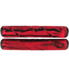 Puños Striker Thick Logo Negro / Rojo