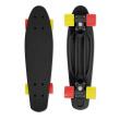 Skateboard FIZZ BOARD Black, Red-Yellow PU, černý
