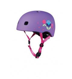 Casco Micro LED Floral Purple S (48-53 cm)