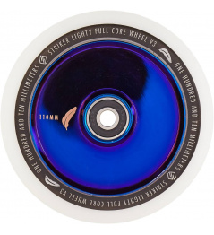 Rueda Delantera Lighty Full Core V3 Blanco Azul Cromado