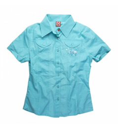 Košile HF Rodeo S/S aqua W. vell.S