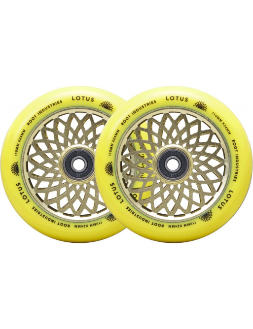 Ruedas Root Lotus 110x24mm Radiant Yellow 2pcs