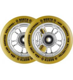 Ruedas North Wagon 110mm Plata / Goma 2pcs